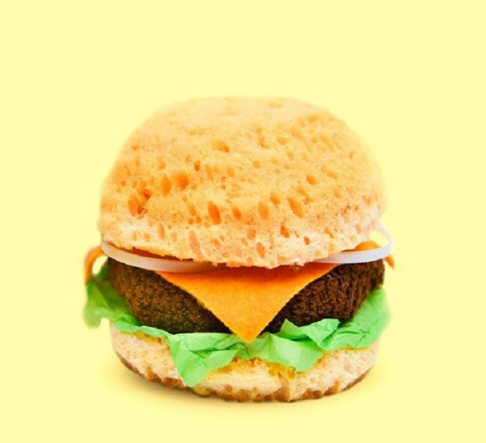 fake food burger