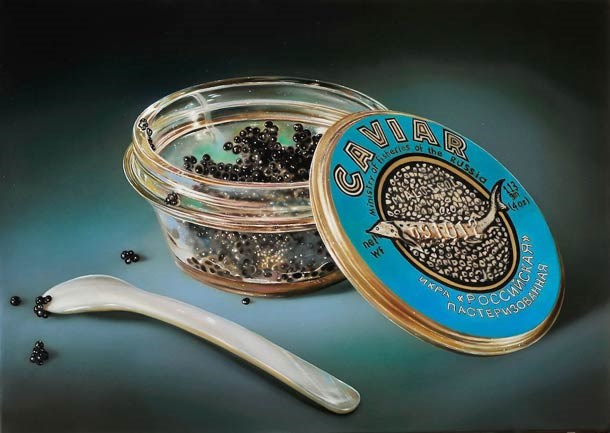 food painting caviar