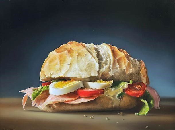 food painting sandwich