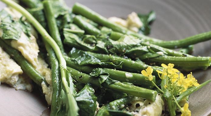 haricots verts poeles