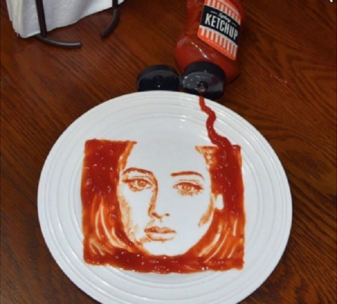portrait adele food artist
