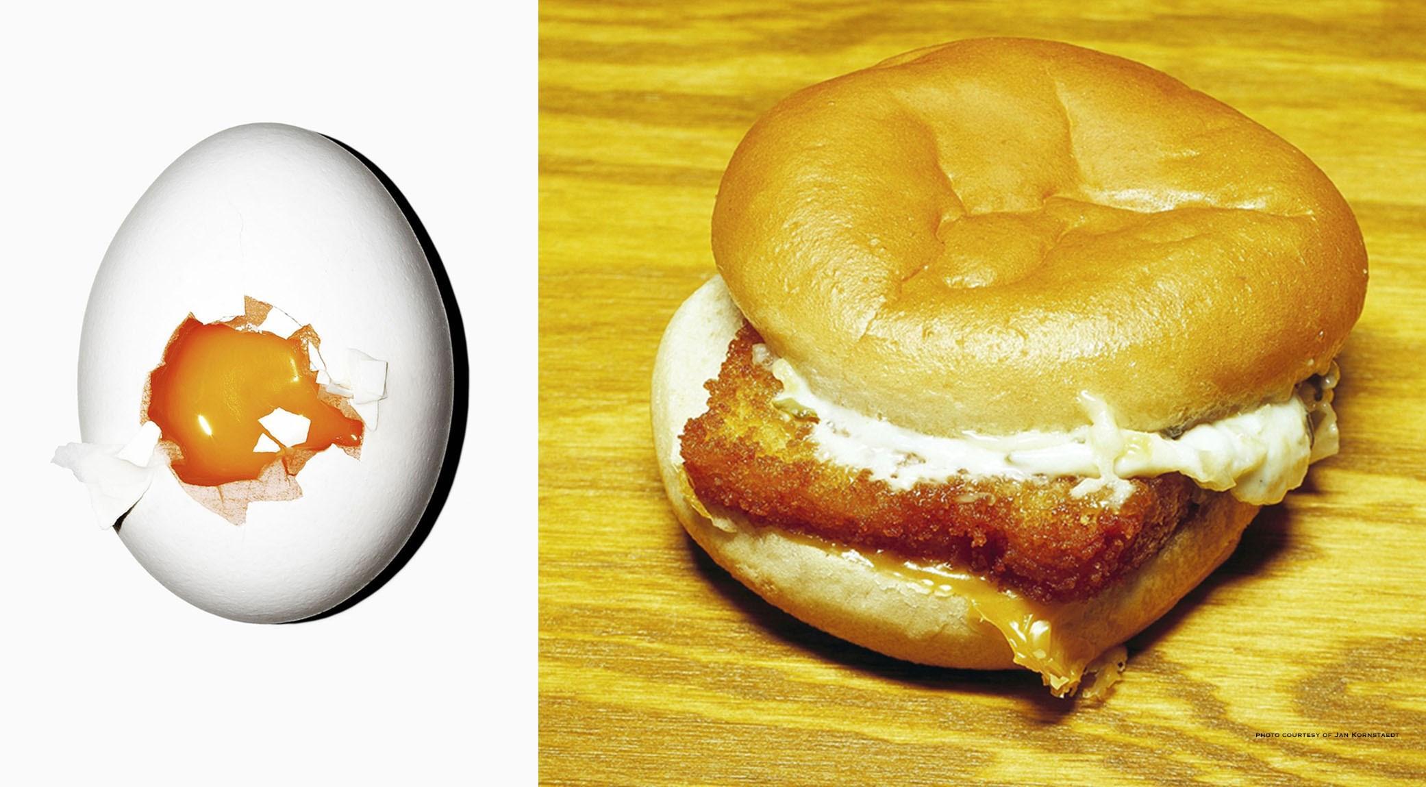 Oeuf et sandwich