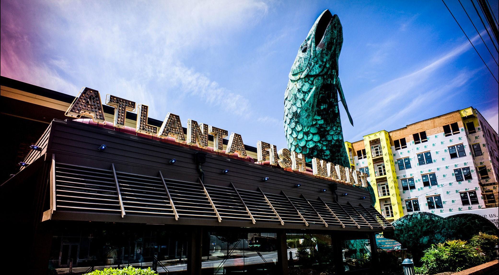 Le marché au poisson d'Atlanta