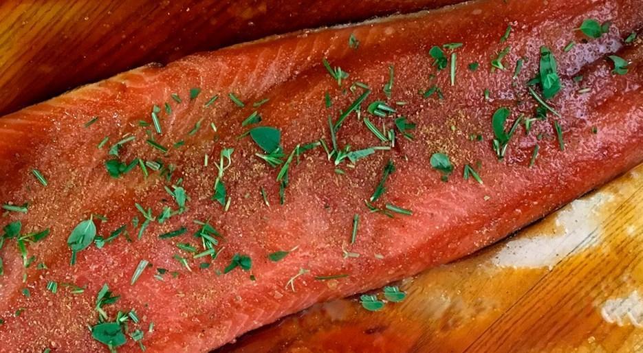 Saumon mariné à la sauce soja