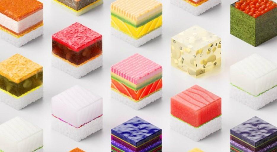 Sushi Singularity : cubes de sushi