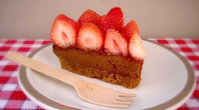Cake fraise chocolat