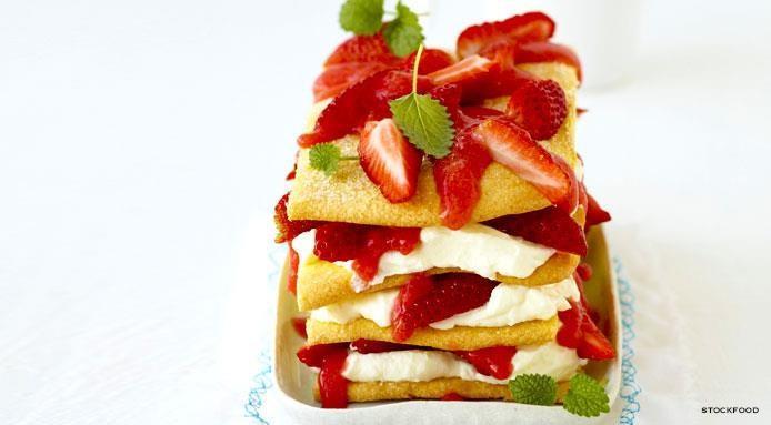Lasagne aux fraises