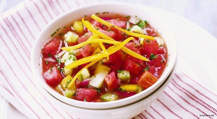 gazpacho à la pastèque
