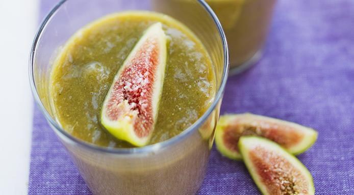 smoothie pastèque, figues et peche